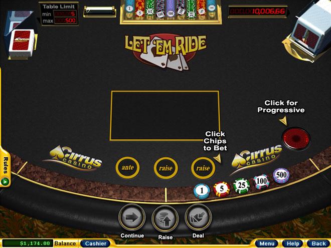 online casino table games bock of rar
