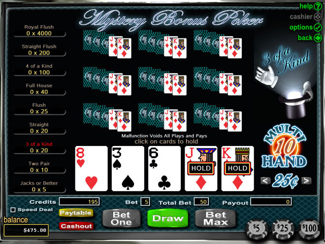 online casino table games bock of rar