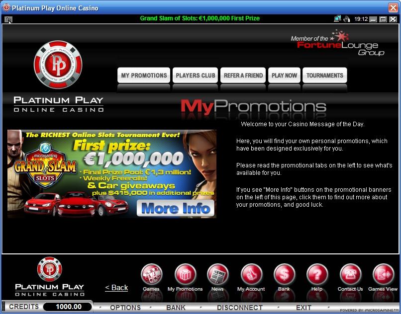 казино platinum play