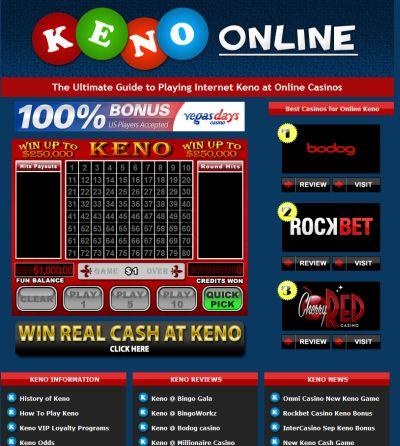 Keno website