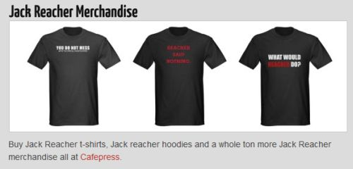 jack reacher merchandise