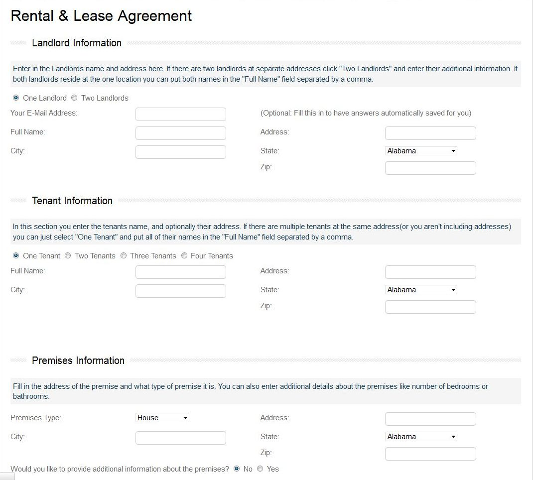 credit report form for landlords